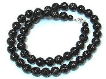 【新品】麗しい黒のオニキスネックレス・直径12mm/60cm