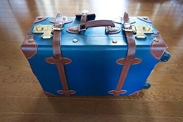 レザー調 スーツケース☆TSA 鍵付き☆ネイビー☆