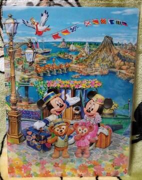 TDS☆ミッキー&ダッフィー【クリアファイル】ミッキーとダッフィーのスプリングヴィヤッジ