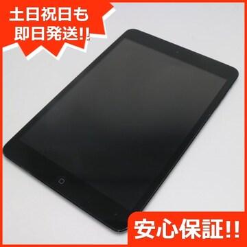 ●美品●au iPad mini Wi-Fi+cellular32GB ブラック●