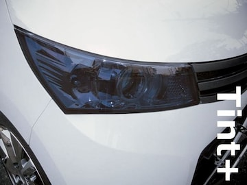Tint+何度も貼れる パレットSW/ルークスHS MK21Sヘッドライト スモークフィルム