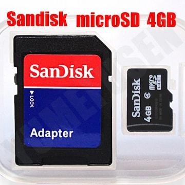 送料込みで670円から サンディスク microSDHC マイクロSD 4GB SDアダプタ付