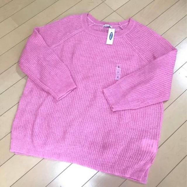 新品◆オールドネイビー◆可愛いピンクニット◆セーター◆L  < 女性ファッションの