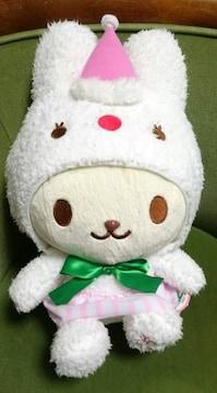 うさずきん/うさぎ/ウサギ/ぬいぐるみ/ドリームクリスマスぬいぐるみ約37cm