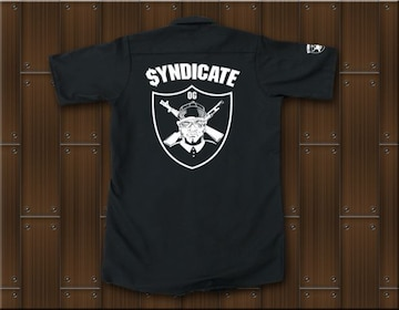 SYNDICATE★ワークシャツ・ギャングスタ★L★黒★新品