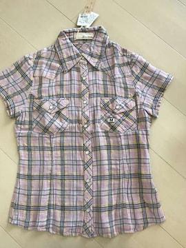 新品☆半袖チェックシャツ*5点以上落札送料無料