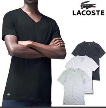 新品未使用LACOSTEラコステ半袖Tシャツ黒色ブラックメンズ