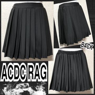 【新品/ACDC RAG】シンプルプリーツミニスカート/ブラック