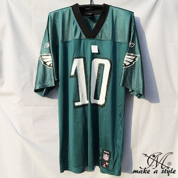 NFL フットボールシャツ Eagles JACKSON グリーン REEBOK M 686