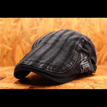 送料無料★箱入り ハンチングキャップ・帽子 黒 JMH2-8