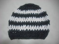 wb481 女 RIP CURL リップカール ウール ニット帽 ボーダー