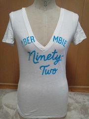 アバクロabercrombie白TシャツXLサイズ