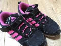 シンプル!アディダス 運動靴女の子 21.5cm