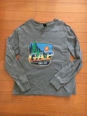 GAPギャップ 長袖Tシャツ USED L(10) カーキグレー ロンt