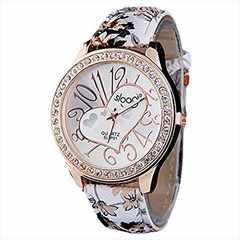 今回限り600円★カラフル&ガールズ時計 ブラウン初期不良保証