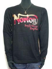 新品正規ノートンNorton3カラー刺繍ロンTアメカジバイカーL