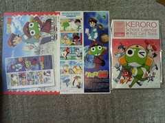 ヒロインズ12 ケロロ軍曹80X10X1S 少年エース付録'06/4 カレンダー&ポストカード