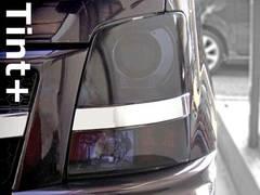 Tint+ 糊残ナシ MH21SワゴンR RR系ヘッドライト スモークフィルム ガーニッシュ有T2