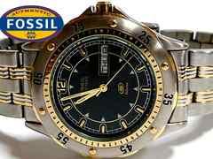 美品 1スタ★FOSSIL 美しいダイバーテイスト メンズ腕時計