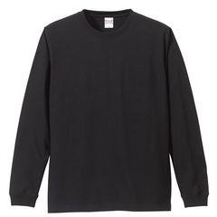 5.6オンス ロングスリーブTシャツ(1.6インチリブ) ブラック M