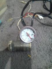 HKS水温計46ミリ水温計アダプター付き