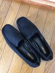 黒☆スエード調靴