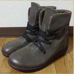 Atelier アトリエ レディース 裏ボアシューズ 24.5EEE 美品 ブーツ 本革
