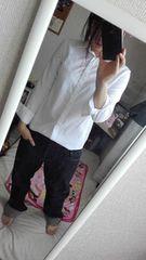 カジュアルYシャツ◆ホワイト◆ボーイッシュ