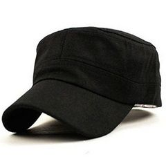 ★シンプル★ 無地 キャップ 帽子 ブラック