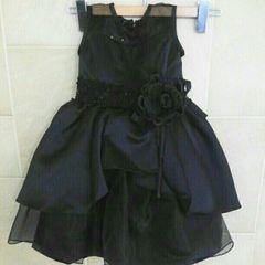 キュートプリンセス キッズドレス ブラック 110cm