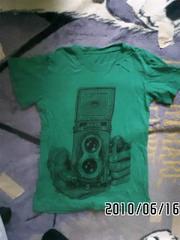 グリーンカメラ柄&イエローキノコ・グラフィックTシャツセット
