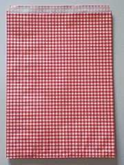 R20サイズ平袋★チェック赤30枚☆B5サイズ紙袋