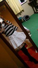 H&M ふんわり可愛い 白 コットン フレアー ミニスカート 重ね着