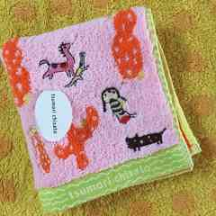 ツモリチサト タオルハンカチPサボテン部分刺繍