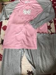 うさぎパジャマ☆ピンク×グレー☆水玉☆160☆部屋着
