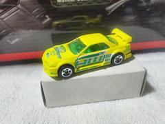 HW '04 スカイライン R32 黄 5spホイール トラックイン トランスポーター