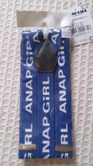 ◎新品ANAP girlブルーロゴサイズサスペンダー◎