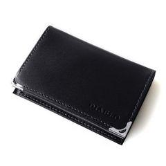 名刺入れ  馬革×牛革 カードケース ブル