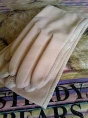 日焼け対策アレルギー予防ベージュロング手袋即決