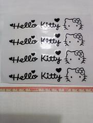 【4枚組:黒】キティ カッティングシート☆デカール☆ステッカー