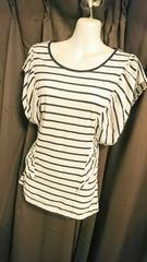 ボーダーフリルTシャツ