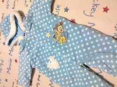 ミッキーマウス2WAY厚手フワフワカバーオールサイズ50〜70�pフード取外暖
