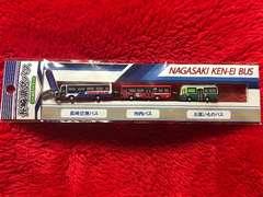 長崎県営バス 3台連結ストラップ 空港バス市内バスお買物バス