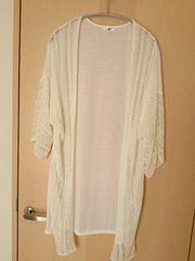 未使用*薄手*鍵編み風カーディガン・羽織りもの*ホワイト