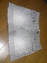 スカート/ミニスカート/デニム生地/灰色/M(サイズ→24)