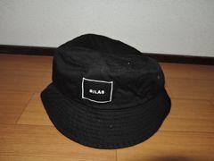 新品SILASサイラスコットンハットM黒ロゴキャップ帽子