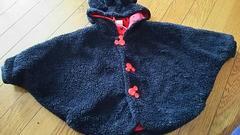 Mickey★Disney★暖か★ポンチョ★size70-90
