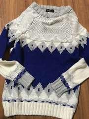 ☆新品☆可愛い(o^^o)あったかい☆おしゃれ編みニットセーターM