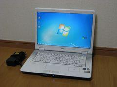 【Windows7/15.4ワイド】NEC PC-LL750/MG Core2Duo メモリ2GB