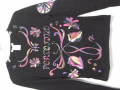 イタリア購入新品エミリオプッチ\38000ロングTシャツ美人百花サルート